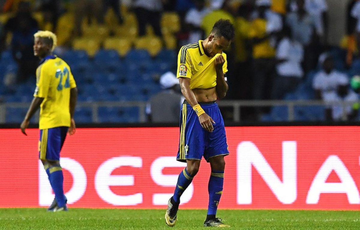 Pierre-Emerick Aubameyang lors de la CAN avec le Gabon, le 22 janvier 2017. – GABRIEL BOUYS / AFP