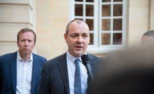 Le secrétaire général de la CFDT Laurent Berger à l'issue d'un rendez-vous à Matignon, le 9 juillet 2020
