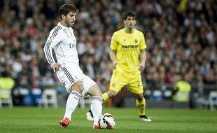 Lucas Silva, milieu de terrain du Real Madrid le 1er mars 2015 à Santiago Bernabeu