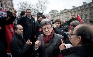 Jean-Luc Mélenchon, du Parti de Gauche, le 21 mars 2015 à Paris.