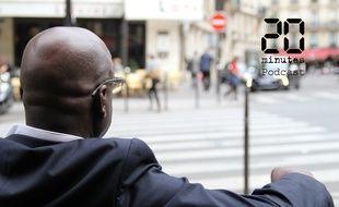 Illustration d'un homme dans une rue parisienne