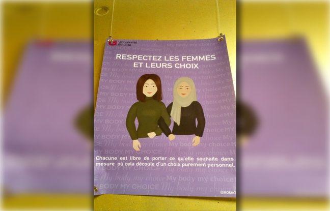 Une affiche contre les discriminations à l'université de Lille.