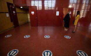 A l'intérieur du palais de justice de Saint-Nazaire.