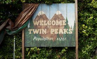 Le panneau d'origine de «Twin Peaks».