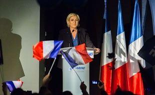 Lors d'un meeting de Marine Le Pen à Clairvaux les lacs, Jura, France, February, 17, 2017.//KONRADK_konrad1032024/Credit:KONRAD K./SIPA/1702181047