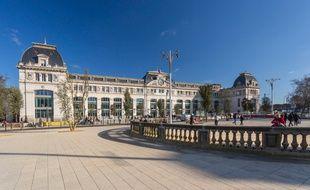 Le nouveau parvis de la gare Matabiau à Toulouse.