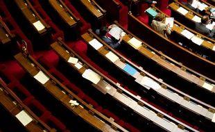 Les bancs de l'Assemblée nationale.