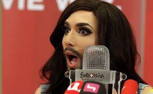 Conchita Wurst, le 11 mai 2014, à Vienne, en Autriche.