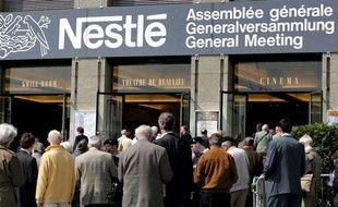 Assemblée générale du groupe Nestlé, le 14 avril 2005 à Lausanne en Suisse.