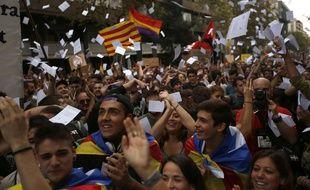 Manifestation des indépendantistes catalans à Barcelone le 3 octobre 2017.