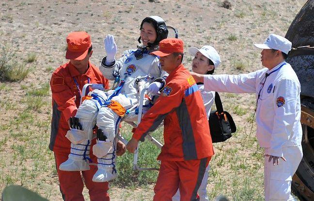 Liu Yang, première astronaute chinoise dans l'espace, 29 juin 2012, illustration.
