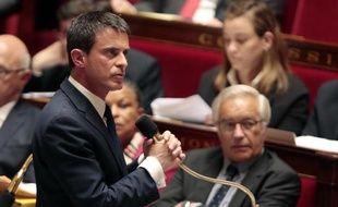 Le Premier ministre Manuel Valls le 19 mai 2015 à l'Assemblée nationale