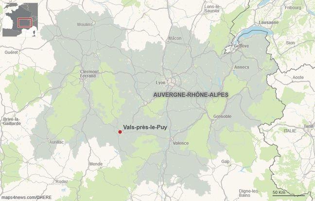 La commune de Vals-Près-le-Puy.