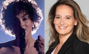 Barbara Pravi, candidate de la France à l'Eurovision 2021 et Alexandra Redde-Amiel, cheffe de délégation française de l'Eurovision.