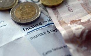 Des euros sur une facture d'électricité