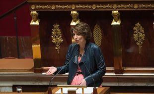 La ministre de la Santé, Marisol Touraine lors d'un discours à l'Assemblée nationale le 31 mars 2015.