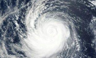 Une image satellite diffusée par la NASA montre le super typhon Soudelor dans l'océan pacifique, le 5 août 2015