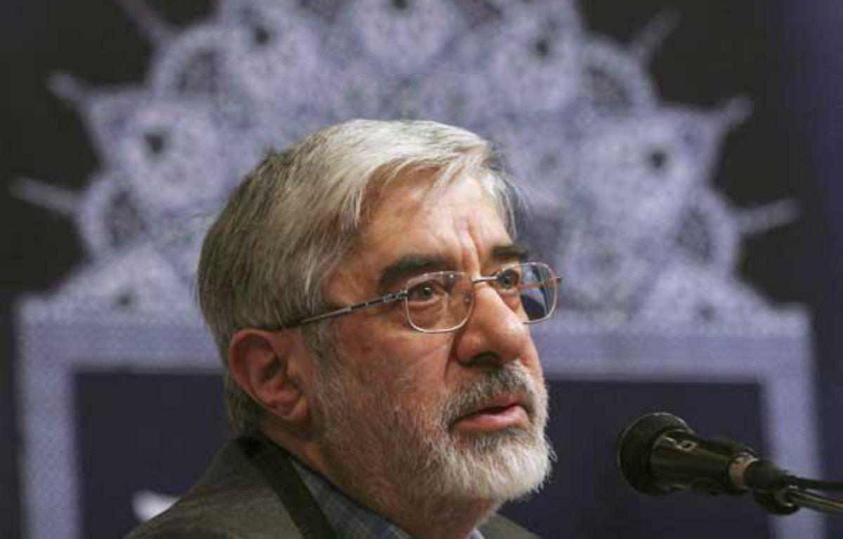 Hossein Moussavi, le 3 mars 2009. – REUTERS