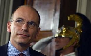 Enrico Letta, le 23 avril 2013, au Palais présidentiel du Quirinal.