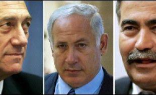 Selon les derniers sondages, Kadima obtiendrait 34 sièges contre une vingtaine pour les travaillistes (centre-gauche) menés par Amir Peretz, 54 ans, et une quinzaine pour le Likoud (droite nationaliste) de Benjamin Netanyahu, 57 ans, en pleine déconfiture.