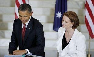 Les Etats-Unis vont déployer jusqu'à 250 Marines dans le nord de l'Australie, à partir de la mi-2012, afin de renforcer l'alliance militaire entre les deux pays, a annoncé mercredi la Premier ministre australienne Julia Gillard, lors de la visite du président américain Barack Obama.
