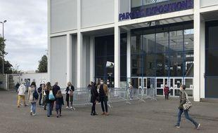 Le parc des expositions de la Beaujoire, le dimanche 11 octobre 2020