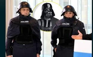 Le nouveau casque de protection des policiers allemands ressemble beaucoup à celui de Dark Vador dans Star Wars.