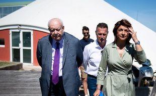 Jean-Claude Gaudin aux côtés de Martine Vassal pendant la campagne des municipales