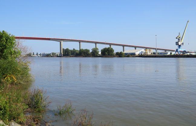 Illustration du pont de Cheviré à Nantes, fréquenté par près de 100 000 véhicules par jour.