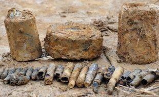 Illustration de vielles munitions