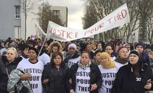 Une marche de soutien à Théo a eu lieu ce lundi à Aulnay-sous-Bois