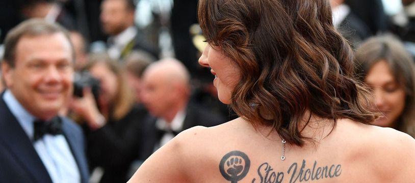 L'actrice Sand Van Roy qui accuse Luc Besson de viols et agressions sexuelles au Festival de Cannes 2019