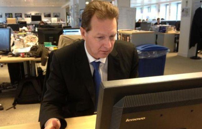 Le député UMP Lionel Tardy à la rédaction de 20 Minutes