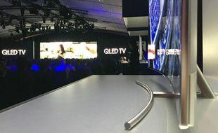 Samsung a effectué le lancement mondial de ses téléviseurs QLED le 14 mars, à Paris.