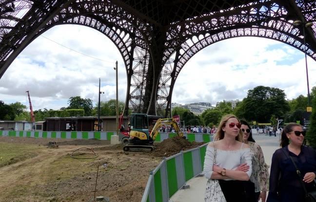 Les travaux sont en cours à la Tour Eiffel