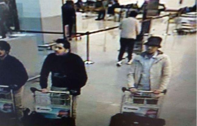 La police belge diffuse une photo des suspects des attaques de Bruxelles tirées des images de vidéosurveillance, le 22 mars 2016