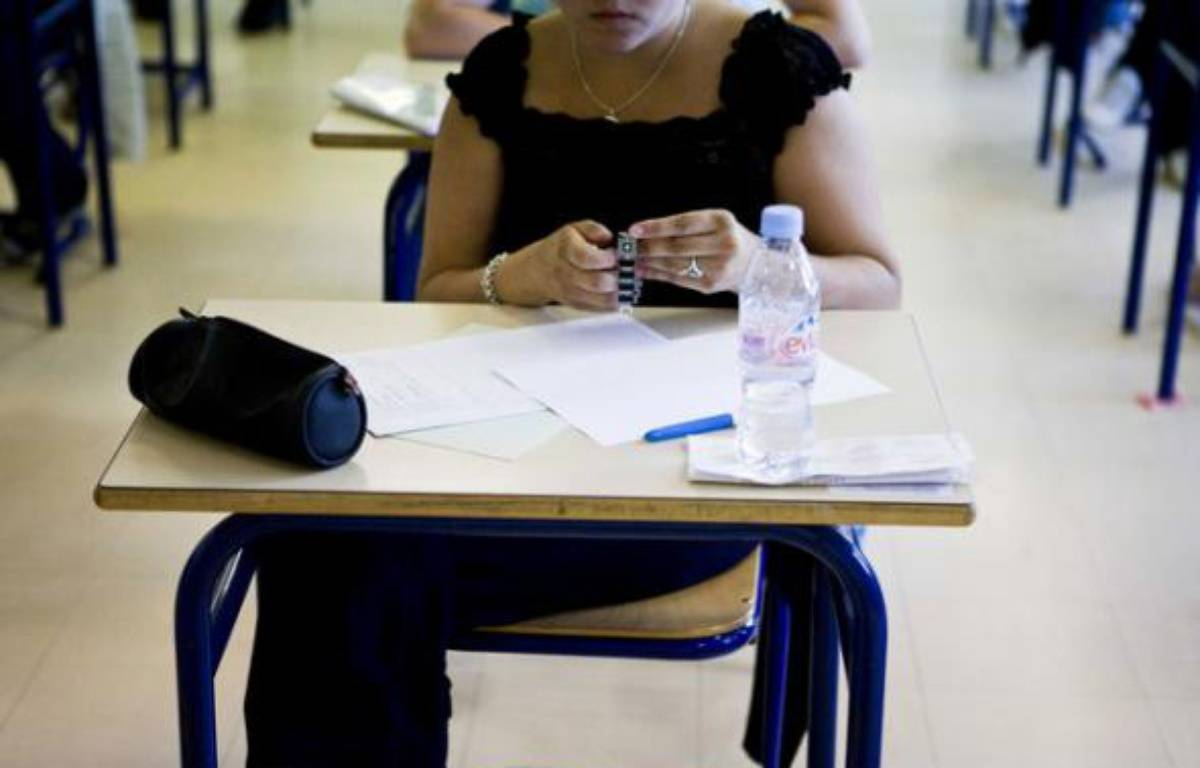 Le jour J de l'examen du bac, mieux vaut arriver à l'heure ou en avance. – F. LEPAGE / SIPA