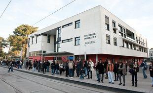 L'université de Bordeaux-3 à Pessac, 30 novembre 2011.