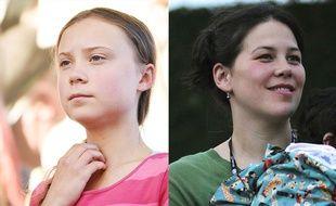 A gauche: Greta Thunberg, 16 ans. A droite: Severn Cullis-Suzuki, 40 ans.