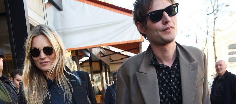 La top-modèle Kate Moss et son compagnon, le photographe Nikolai Von Bismarck