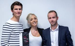 Victor Marostegan, Ludivine Vajou et Nicolas Duval, les fondateurs de la start-up TakeAway