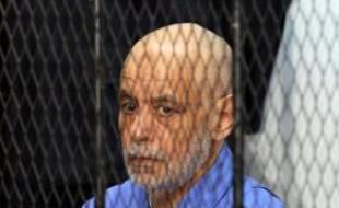 Le dernier Premier ministre de Mouammar Kadhafi, Baghdadi al-Mahmoudi, au tribunal le 18 février 2014 à Tripoli