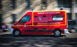 Illustration d'un véhicule des sapeurs-pompiers.
