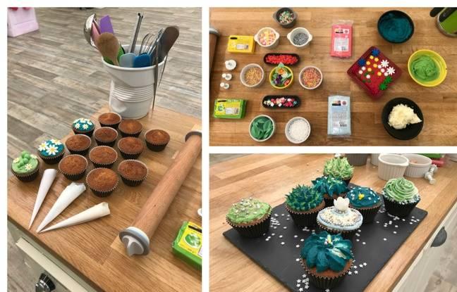 Des cupcakes à décorer, du matériel de pro... et le résultat pour «Un goûter à la Nasa».