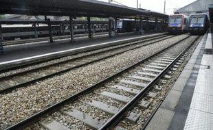 La grève à la SNCF -ici des quais déserts gare d'Austerlitz à Paris le 4 juin- se poursuit mardi, avec un léger mieux pour les passagers