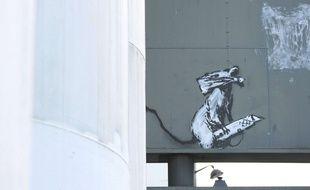 Le rat de Banksy aux abords du Centre Pompidou à Paris