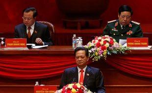 Le Premier ministre Nguyen Tan Dung (C) pendant la cérémonie d'ouverture du 12e Congrès national du Parti communiste, à Hanoï, le 21 janvier 2016