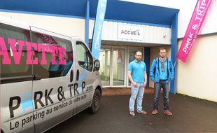 Benoit Leblanc et Julien Delplanque, cofondateurs de Park & Trip