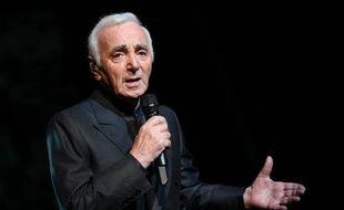 Le chanteur franco-arménien Charles Aznavour, le 7 septembre 2011 sur la scène de l'Olympia à Paris
