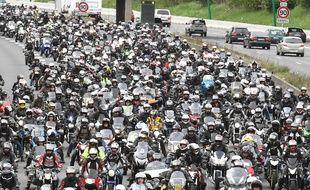 Les motards en colère à Toulouse, le 14 avril 2018.